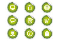 Sticky Icons - Website & Internet #2 | Green