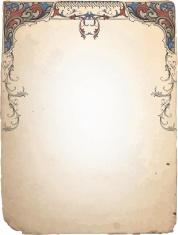 Vintage Scroll Stationery