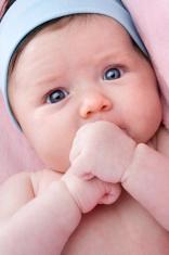 Photo of adorable baby newborn