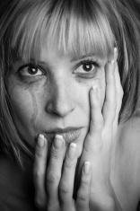 Blonde in tears