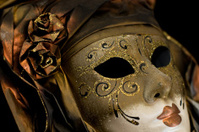 Bronze Lady Carnival Mask