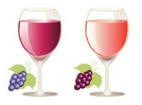 Wine in glasses - VECTOR