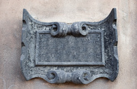Iron frame on the wall