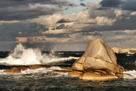 rocks on the sea