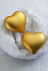 Golden Valentine hearts