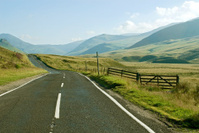 Country road in the Scottish Highlands