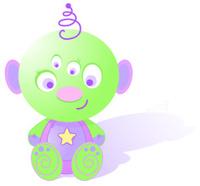 cute baby alien clipart