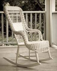 Vintage rocking chair.