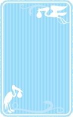 baby blue invitation