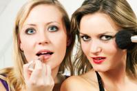 Friends doing make-up