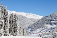 Wonderful Swiss Winter in Alps