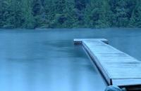 Rainy day at the lake