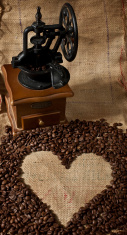 Coffee grinder and heart shape