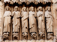 Sculpture on Notre Dame