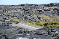 volcanic landscape Hawaii molten liquid basalt lava volcano erup