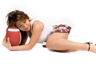 football fan posing