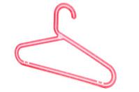 Plastic red hanger