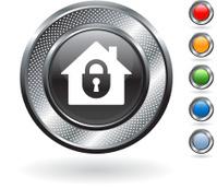 home security metallic button