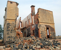 Abandoned falling down house, rural Australia
