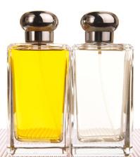Two Perfume Bottles, Vanity, Beauty Product, Amber Liquid, Isola