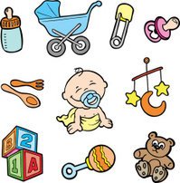 cartoon baby toys items collection stock vector sheep clip art drawing sheep clipart black