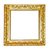 Gold floral frame