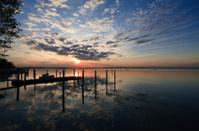sunset on the lagoon of Bibione