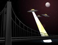 UFO over the Bridge