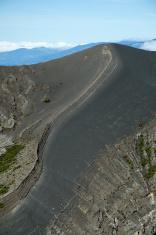 Around the Irazu Volcano crater