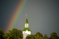 Rainbow over Peters Church