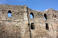 Ancient castle ruins in Canterbury