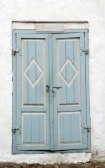 Very old lightblue door