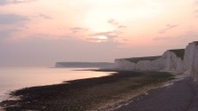 Sunset over the Seven Sisters