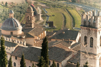 Assisi Umbria basilica detail