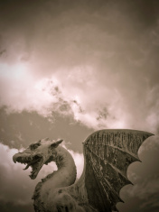 Dragon dramatic sky
