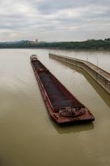 Coal Barge at Melk