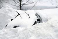 Car under snowdrift
