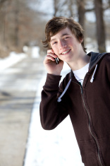 teen male technology portraits