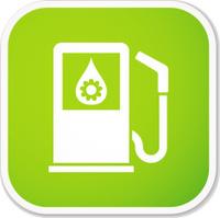 eco fuel pump sq sticker