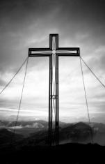Cross atop a mountain