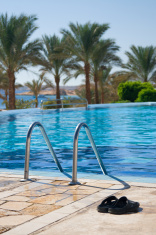 Pool on tourist resort