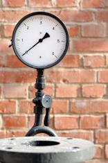 The pressure gauge