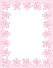 Chunky Star Border - Girl