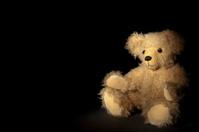 Teddy bear at night