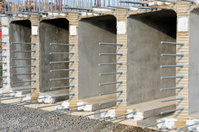 Concrete and rebar overpass section