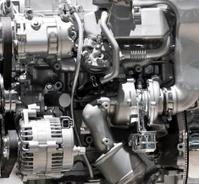 Silver Shiny Engine