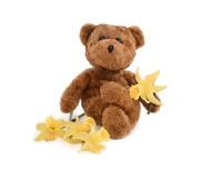 Teddy And Daffodils
