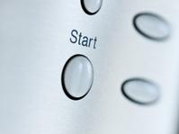Metallic start button