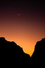 Wadi Rum - Sunset with Moon