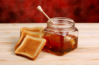 Food - Honey and croutons